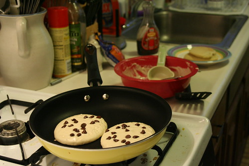 Chocolate Chip Gluten Free Pancakes