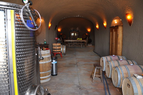 We scrubbed down the whole wine cellar in preparation for the upcoming harvest.