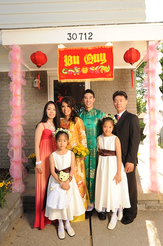 With my uncle and his family