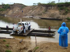 World Humanitarian Day (UNHCR) Tags: cars latinamerica southamerica car ferry river war colombia staff unhcr logistics visibility acnur conflictzone remoteareas
