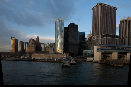 Lower Manhattan and the Staten Island Ferry Terminal (corrected)