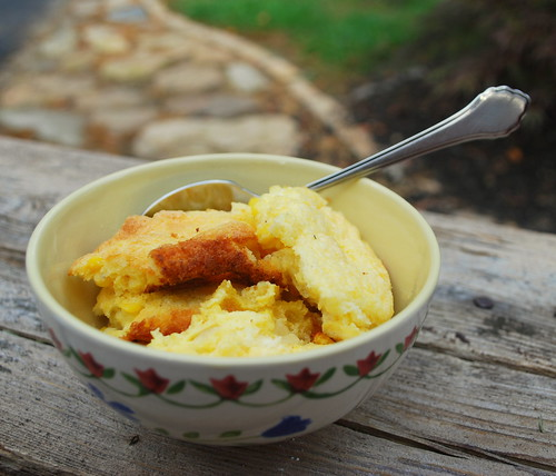 Corn Pudding in bowl