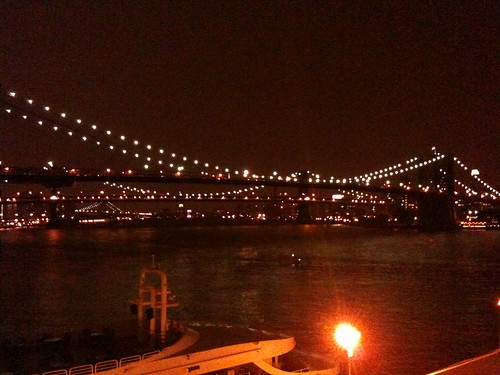 At south st seaport looking at the bklyn bridge