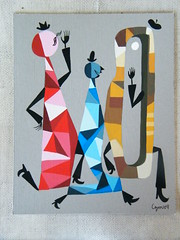 CZM - Abstract (C Z M) Tags: original abstract art fashion illustration painting artwork mod paintings jazz drawings funky retro unusual gouache eames poets midcenturymodern czm pittsburghartist monstrodeolho czmmonstrodeolho czmart artistczm