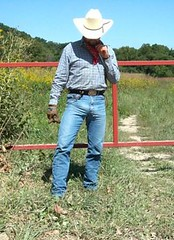 03 WS sure is hot dry day for this... (wranglerswimmer) Tags: cowboy wranglerjeans hotjeans cowboygear wranglercowboy