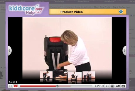 Kiddicare product videos