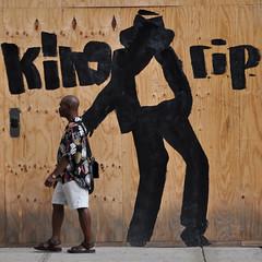 KING RIP (laverrue) Tags: wood nyc streetart black silhouette dance king manhattan mj rip pop jackson midtown explore farewell gothamist tribute care bye mickael jako kingofpop adieu adios explored mickaeljackson