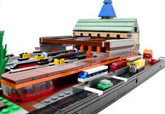 Micropolis Central Station (eτi) Tags: lego moc microscale micropolis