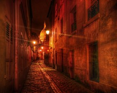 Walking the Streets of France After Dark (Stuck in Customs) Tags: world street city travel november urban france streets color texture church seine architecture night dark walking de french photography lights high alley nikon perfect europe noir european catholic ledefrance quiet dynamic heart stuck cathedral lyon roman outdoor basilica north ile coeur sacre medieval cupola sacred romantic after washed top100 portfolio asleep northern travertine region range hdr trey sacr montmarte customs 2007 montemarte cour cur parisienne rgion sacrcur coer ratcliff d2xs stuckincustoms