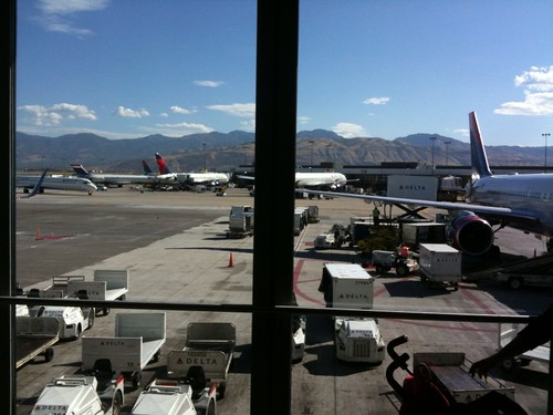 View of Salt Lake City at the airport