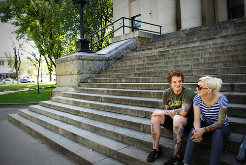 Ben and Kati on the Courthouse steps