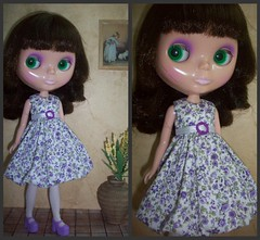 Claudia with a new dress