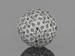 Virtual slide-together on a snub icosidodecahedron with playing cards on the wrong side (fdecomite) Tags: playing cards geometry virtual math napoli catalan playingcard povray polyhedron polyhedra aime scopa napolitano napoletano archimedean scoppa georgehart slidetogether