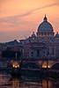 l'Antenna, le cupole (the_lighter) Tags: bridge sunset rome roma saint nikon san tramonto ponte peter tevere antenna pietro cuppolone cuola