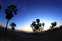 Sunset at Venice Beach - LA (Richard E. Ducker) Tags: california venice sunset sol praia los do angeles fisheye venicebeach por