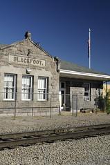 Blackfoot Train Station - Idaho (ap0013) Tags: railroad usa america train nikon id idaho trainstation americanwest blackfoot d90 nikond90 blackfootidaho