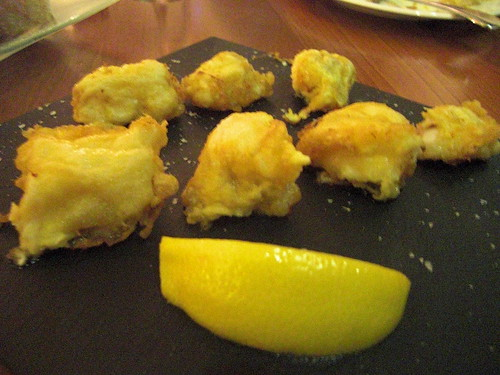 Monkfish parcels with lemon