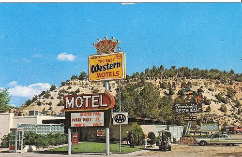 Thunderbird Motel & Restaurant - Mt. Carmel Jct., Utah - Early 1960's by firstyearta.