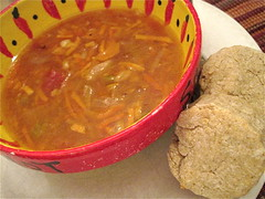 Vegan Barley Soup and Biscuits