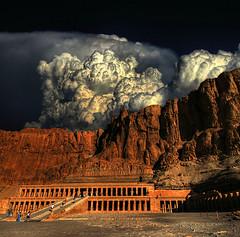 Queen Hatshepsut stop the rain ! (rinogas) Tags: clouds nikon nuvole egypt hdr egitto hatshepsut deserto theunforgettablepictures rinogas magicunicornverybest