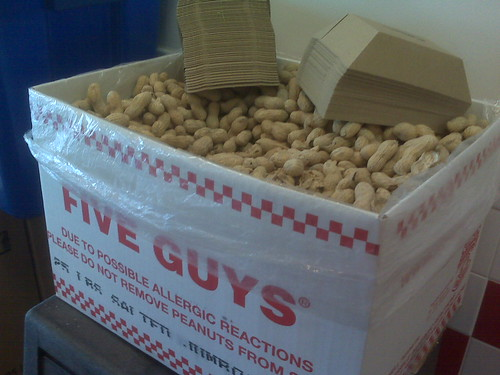 Peanuts at Five Guys