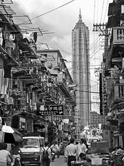Contrast (Rob-Shanghai) Tags: china street blackandwhite bw streets skyscraper asia shanghai  jinmao citydevelopment shanghailanes