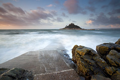 St Michaels Mount (antonyspencer) Tags: uk st sunrise landscape cornwall mount michaels marizion