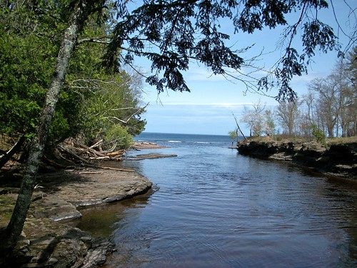 Mouth of the Presque Isle River at Lake Superior