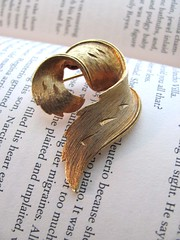 Gold vintage brooch, very deco (MySoCalledVintage) Tags: men fashion century vintage costume jewelry retro etsy mad mid midcentury msv mysocalledvintage