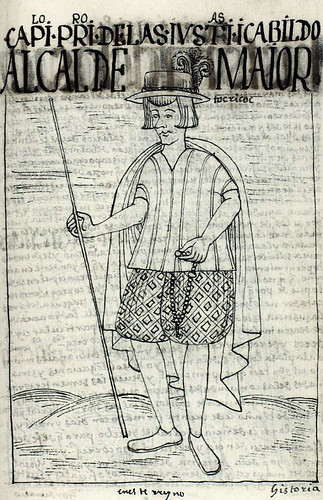 The chief local magistrate, or túqrikuq, from the Book of Guaman Poma