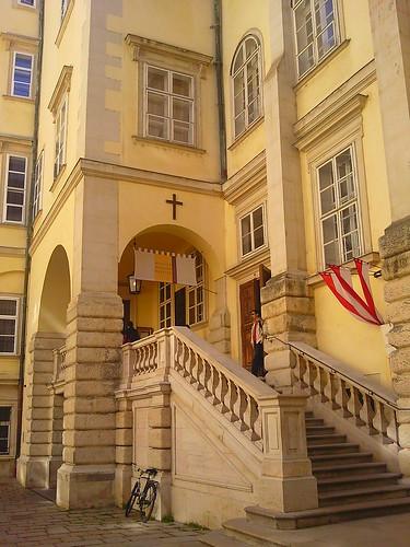 Exterior of chapel where Vienna Boys Choir sing