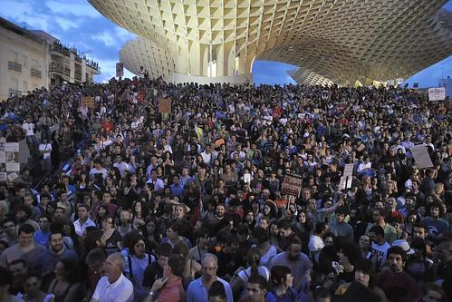 Manifestación en Sevilla del 29M por Democracia Real Ya