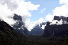 Yosemite Valley (Have Fun SVO) Tags: california ca travel sky mountains nature water weather clouds nationalpark valley yosemite granite elcapitan bridalveilfalls
