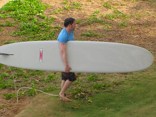 carrying the board