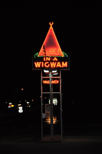 Sleep In A Wigwam Neon Sign Cave City KY