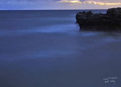 Lost in silence (Maaar) Tags: longexposure sunset sea bali seascape beach stone landscape feelingblue silence cemagi tenang lostinsilence mengeningbeach bukanbabyblues terdampardikeheningan