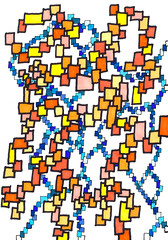 sq6 (Mr Pauly D) Tags: art pen design pattern colours squares drawing markers letraset felttip partsofawhole