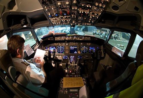 Cockpit Boeing 737-800