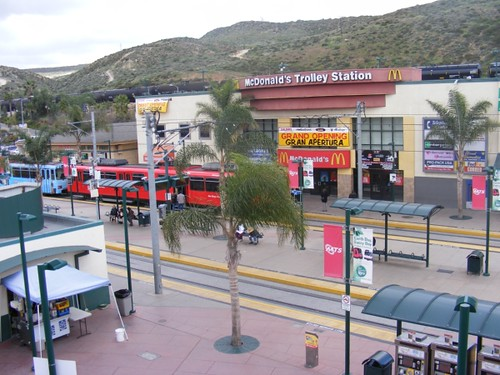 In the U.S., the San Ysidro Trolley Station.