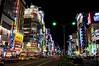 Tokyo nights (dani.Co) Tags: street city trip travel urban cars japan night tokyo noche calle nikon shinjuku neon ciudad urbana nightlife adds tokio japón d300 vidanocturna danico
