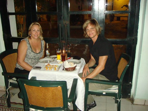 Janet and I at the superb Restaurante San Pedro, Cartagena.