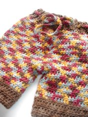 **$0.01 First Class Shipping**  Crocheted Wool Shorts (med/lrg)