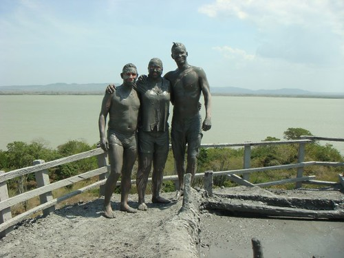 Ernesto, Janet, and I (aka The Martians) on top of the El Totumo Mud Volcano...