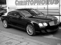 Bentley Continental GT Speed (Germanspotter) Tags: auto street white black car speed germany munich münchen deutschland nice power continental exotic gt luxury 2009 find supercar bentley sportwagen germanspotter