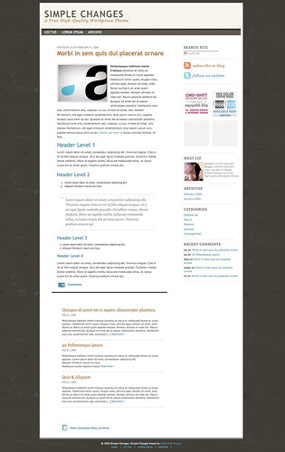 Simple Changes - WordPress Theme
