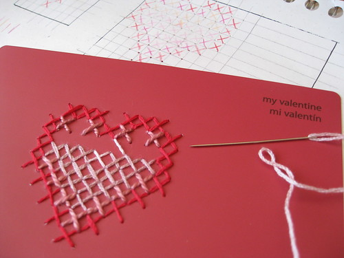cross-stitch Valentine