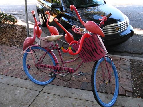 Flamingo Tiger Art Bike