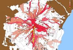 Etna - Cartina eruzione 2001 (Tonyetna) Tags: italy flow volcano lava italia mt map maps mount di sicily monte mappa cartina etna eruption sicilia vulcano vulkan sicile sizilien sicilie lavaflow colata eruzione lavica laviche lavastrom colate