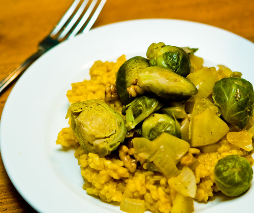 Brussel Sprouts Risotto