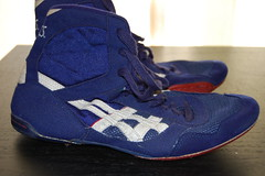 ORIGINAL ASICS LYTE FLEX (red- wants rwb combats and blue w/ big red combats) Tags: blue red white black hot sport cool shoes wrestling nike asics olympic adidas rare combatspeeds